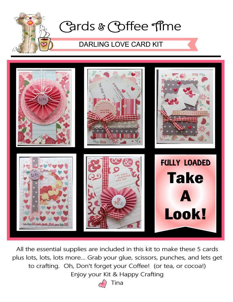Darling Love DIY Card Kit Card Making Kit Valentine Cards