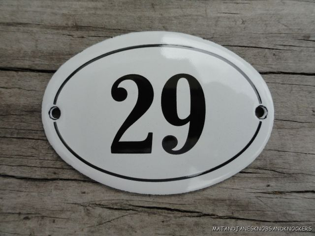 Small Antique Style Enamel Door Number 29 Sign Plaque House Number House Numbers House Number Sign Solar Lights