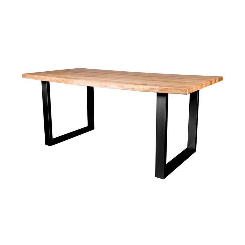 Der moderne Esstisch mit Baumkante, Untergestell aus