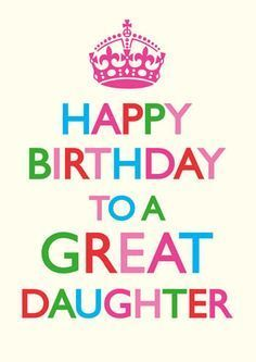 Happy Birthday To A Great Daughter Funny Birthday Card Click Image