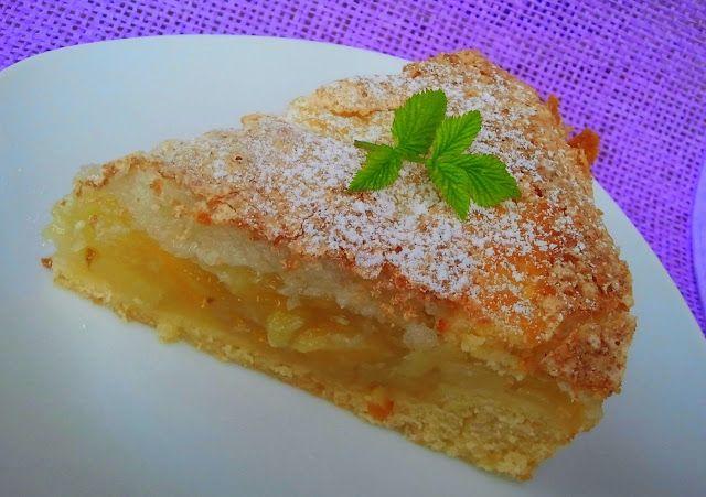domowa cukierenka: kruche ciasto z gruszkami i kokosem