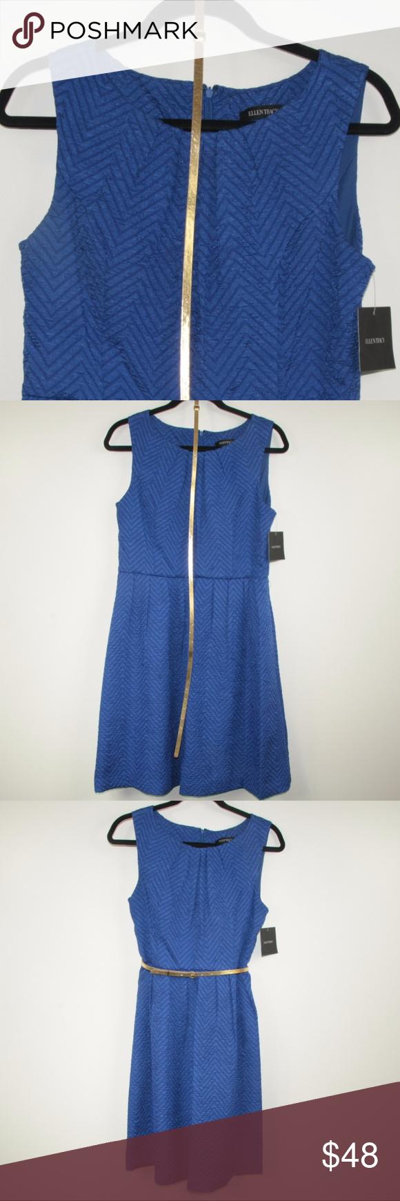 NWT! Ellen Tracy Royal Blue Dress | Royal blue dresses, Chevron ...