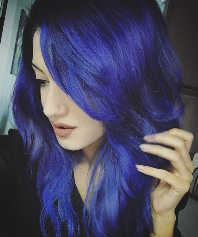 going blue mixed 1 part extreme blue to 3 parts pastel purple overtone to hair in 2019. Black Bedroom Furniture Sets. Home Design Ideas
