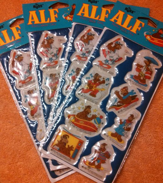 Alf 1980s vintage stickers television show