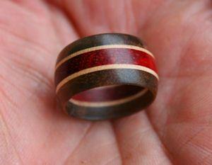 Tutorial Laminated Wood Turned Ring By Clovishound Via