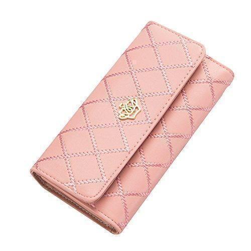 f5671e365 Comprar Ofertas de Contever® Moda Bolsos de mano Clutch Largo Carteras para  Mujer Dama cuero de la PU Billetera Tarjetero (Rosado) barato.