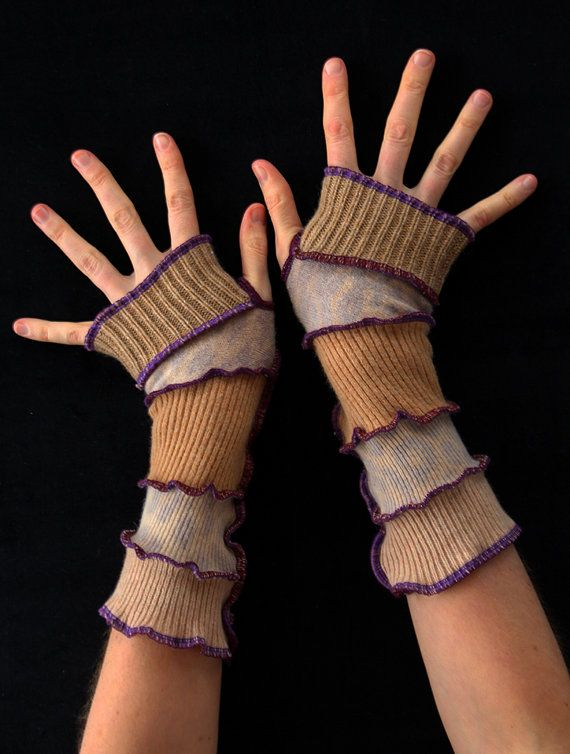 Arm Warmers  Made from Upcycled Sweaters  One Size by Fairytea