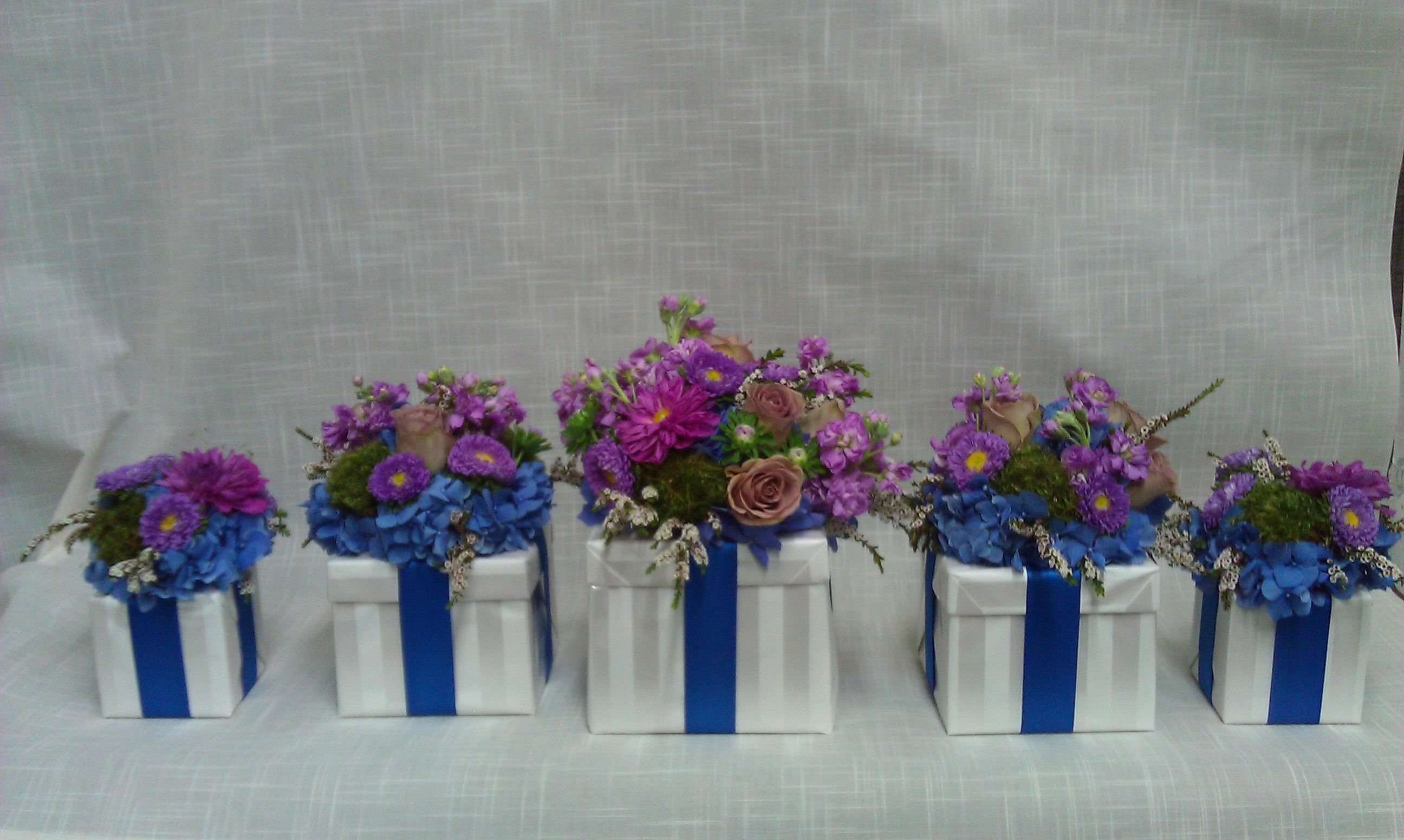 Gift Box flower arrangements