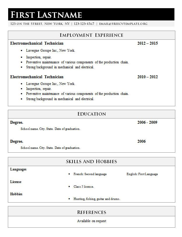 simply classic resume template   617