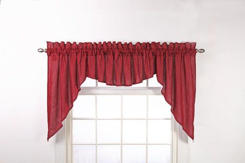 cf62aece175d7575c434fd46d3a5aa95 - Better Homes And Gardens Red Check Swag Valance