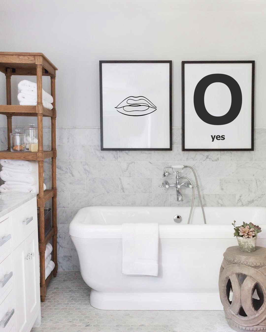 Single Line Lips Print Minimalist Lips Poster Scandinavian Etsy Bathroom Decor Modern Art Styles Bathroom Wall Art