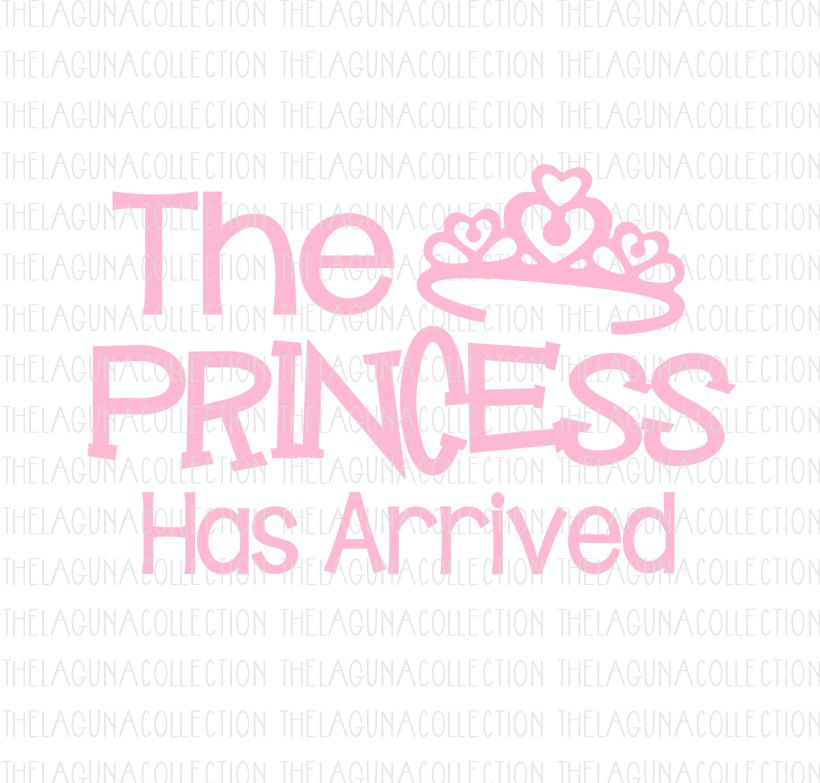 The Princess has Arrived svg, Baby Girl Svg, New Baby Girl