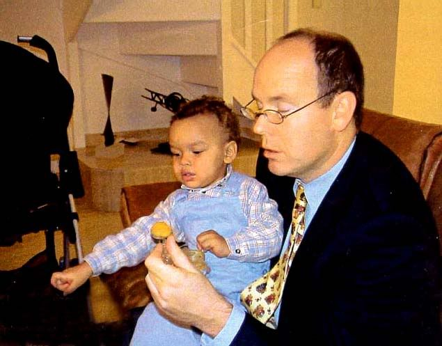 prince albert of monaco and nicole coste with their
