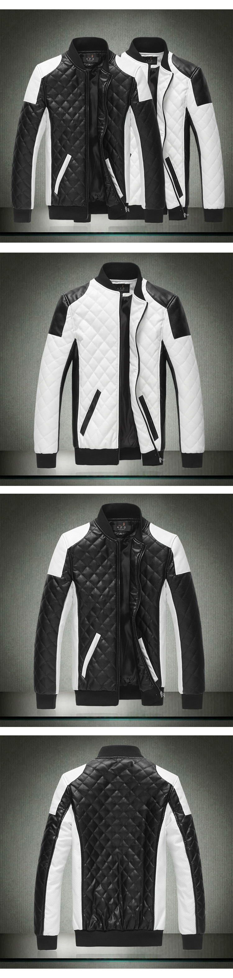 Brand New Faux Leather Slim Fit Leather Jacket