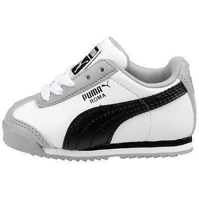 4732b93874f580 Puma Roma Basic Kids Toddler 354260-27 White Grey Shoes Sneakers Td Baby  Size 10