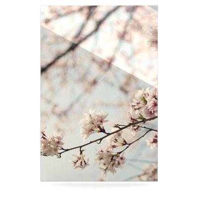 KESS InHouse Japanese Cherry Blossom by Catherine McDonald Photographic Print Plaque