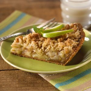 My favorite Dutch Apple Pie with a graham cracker crust. Apples are topped with    boyz #homemadegrahamcrackercrust