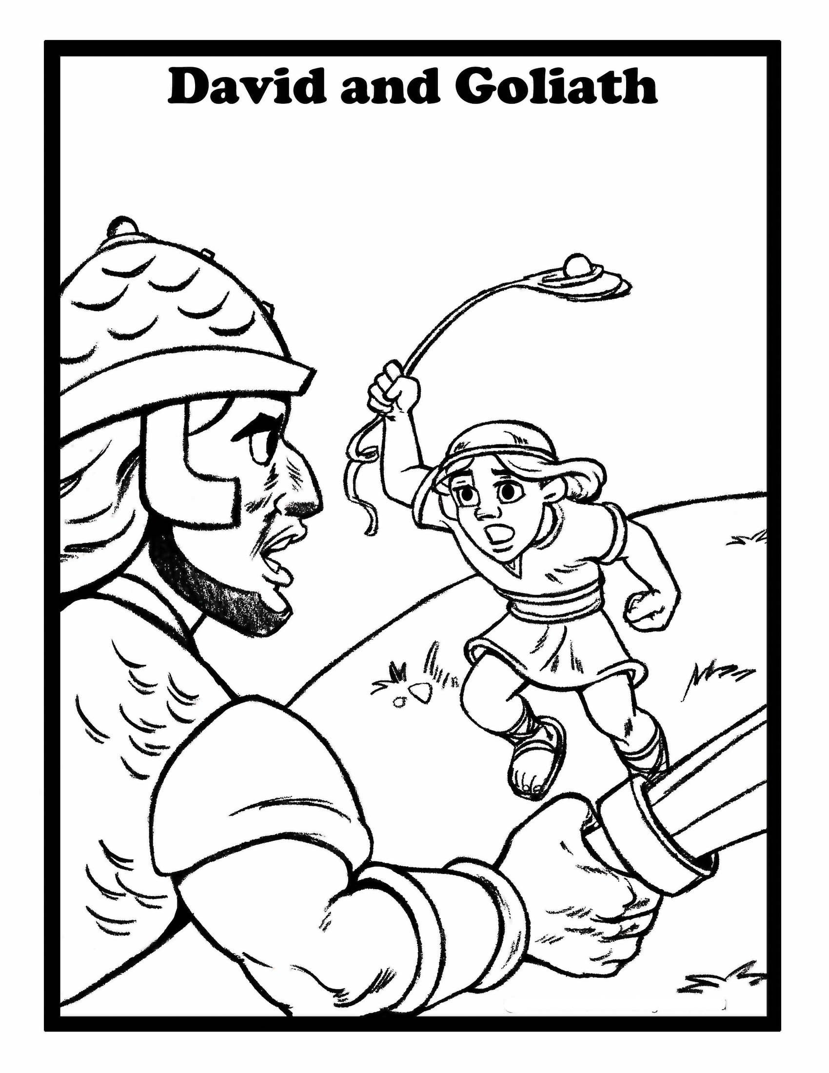 Kids Bible Coloring Pages On Courage