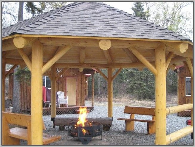 Gazebo Plans With Firepit Gazebo With Fire Pit Fire Pit