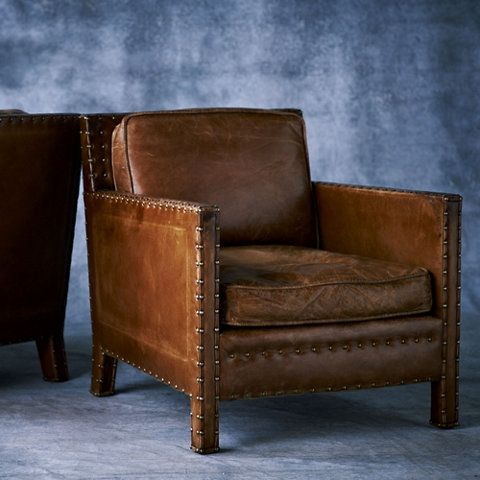 Leather Chair With Nailhead Trim Stuhlede Com Leather Club Chairs Leather Chair Faux Leather Chair