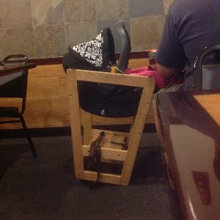 Huh Never Thought Of That Flip Wood High Chairs Upside Down For A Baby Carrier Pedestal Who Knew Wood High Chairs Wood Decor