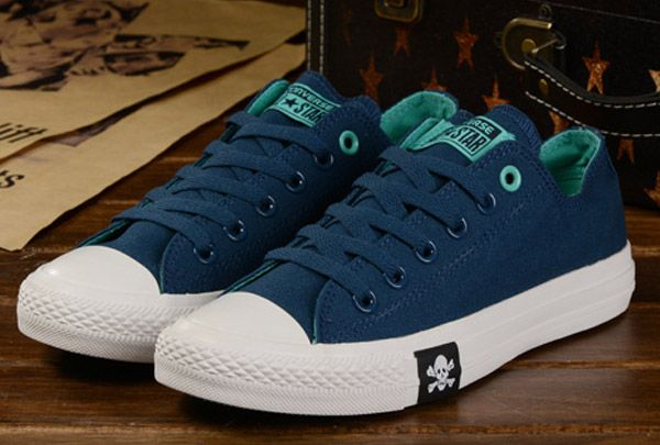 6736341ac66364 Discount ® Converse Chuck Taylor All Star Double Colors Blue Mint green Canvas  Sneakers Low Tops