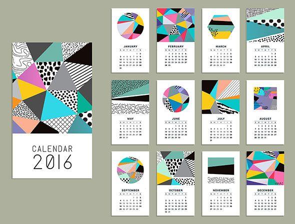 21 Best Calendar Templates For 2016 Calendars 2016 and Calendar - sample indesign calendar