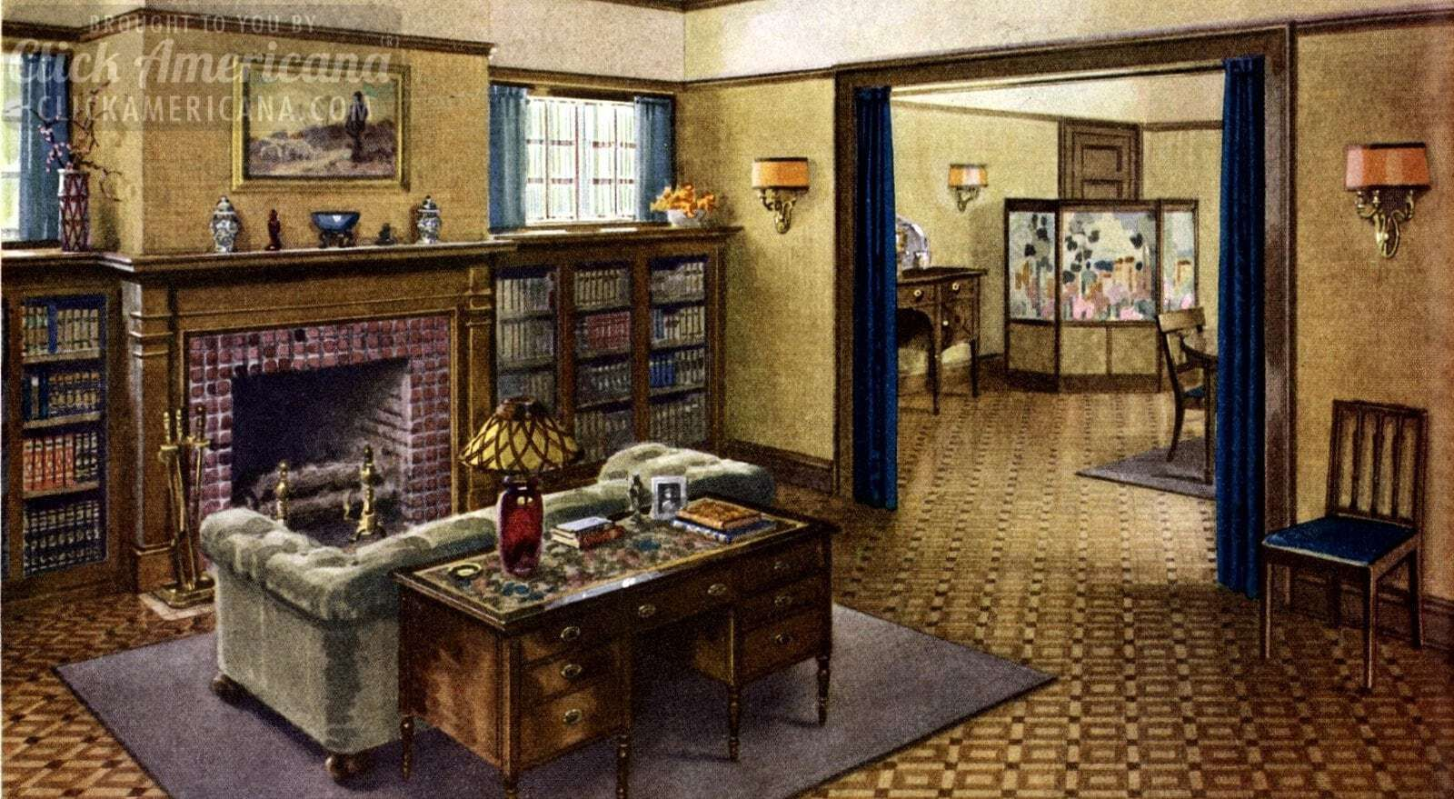 See Inside The Ideal American Home Of The 20s Decor Home Living Room 1920s Home Decor 1920s House