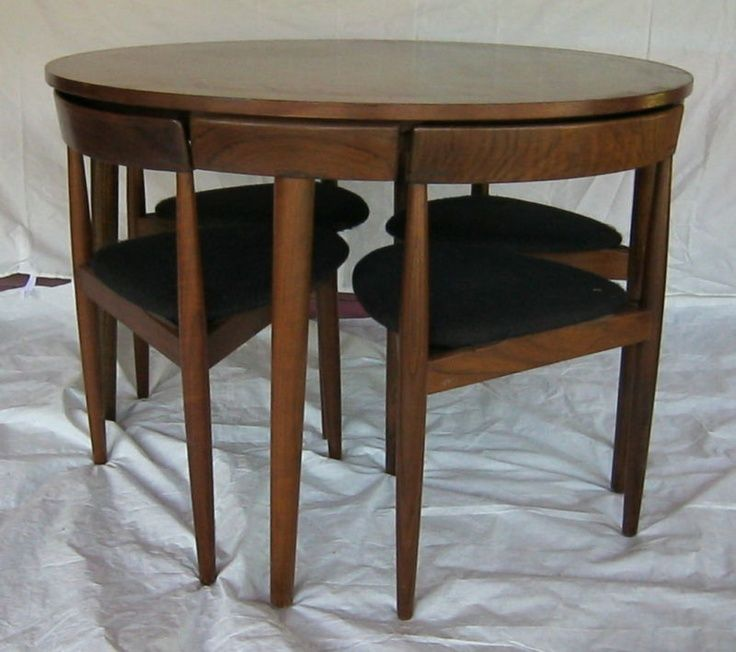 Round Table With Chairs Part - 29: Round Table With Chairs That Fit Underneath - Google Search