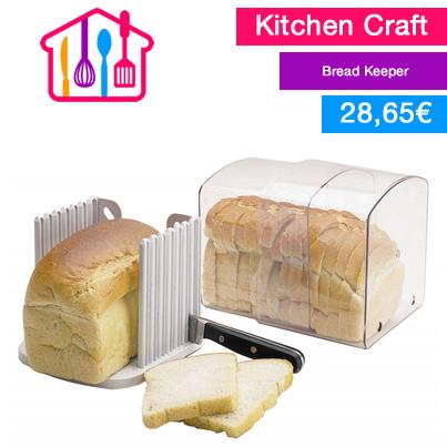Manten una hogaza de pan fresco con esta caja de pan expansible único y muy útil, con pequeños respiraderos para permitir el aire suficiente. También incluye una guía de corte que permite cortar el pan de forma fácil, uniforme y segura.