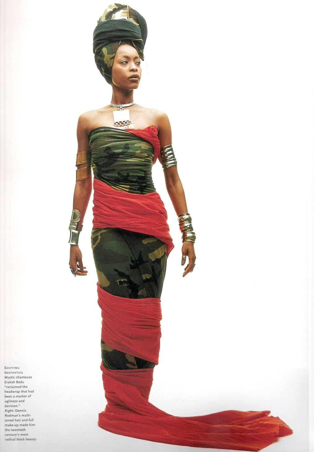 ~Latest African Fashion, African Prints, African fashion styles, African  clothing, Nigerian - Erykah Badu's 50 Most Eccentric Outfits Head Wraps, Evolution
