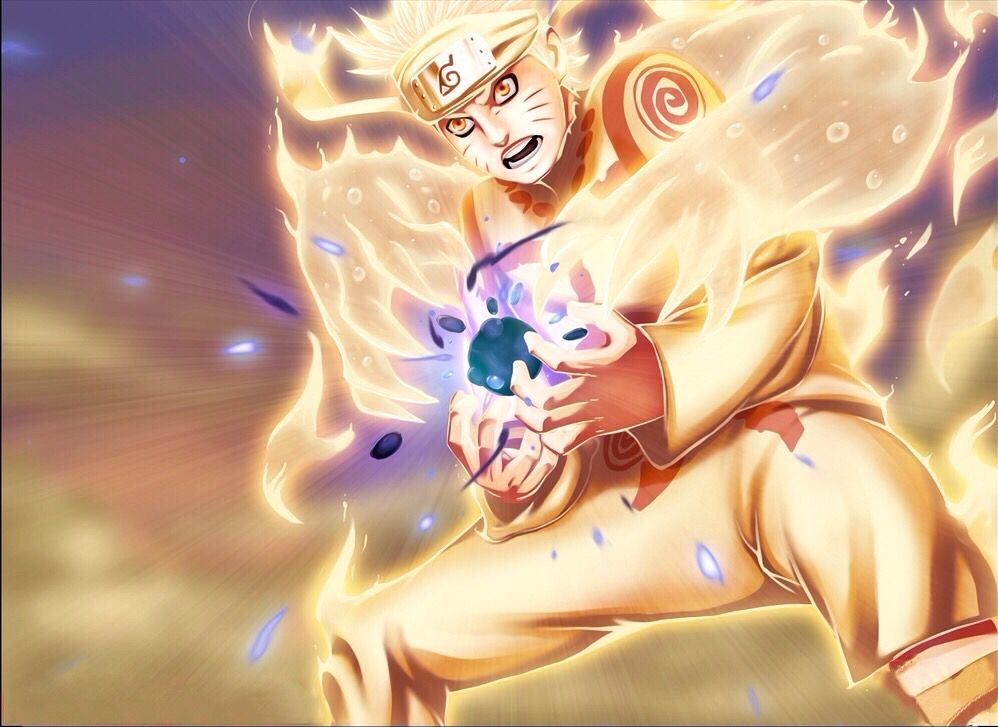 Naruto Six Paths Sage Mode Forming Rasengan Anime Anime