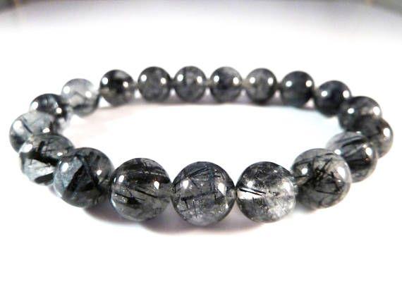 Clear Quartz Tourmaline /& Labradorite Stretch Bracelet