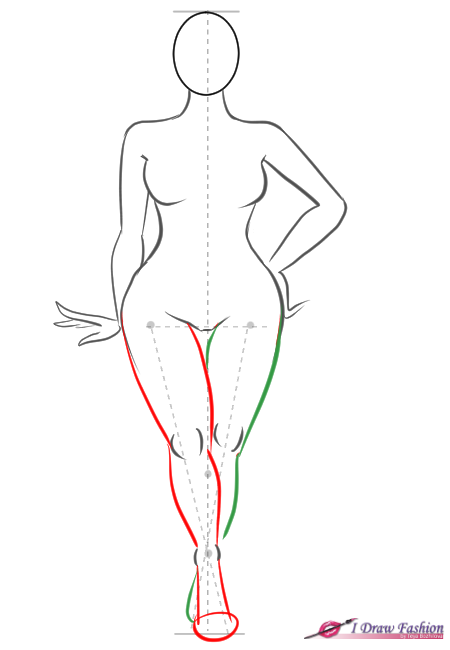 How To Draw Plus Size Fashion Figure Step 8
