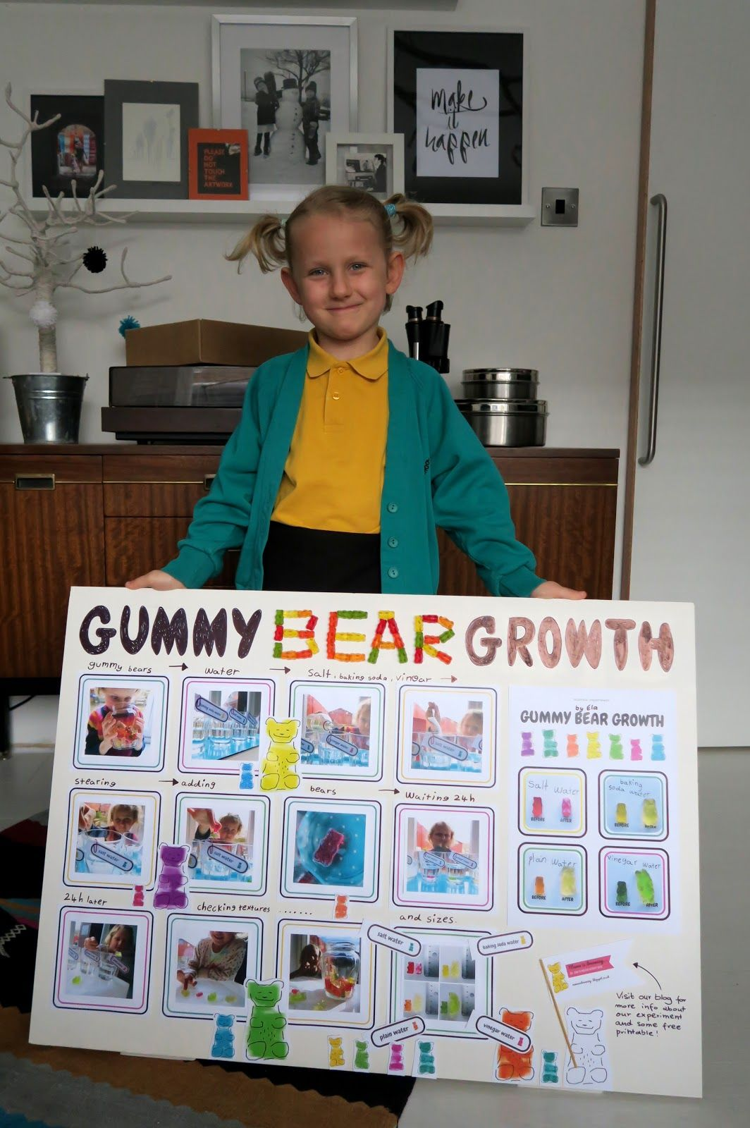 Gummy bear growth + free printable   mamaisdreaming ...