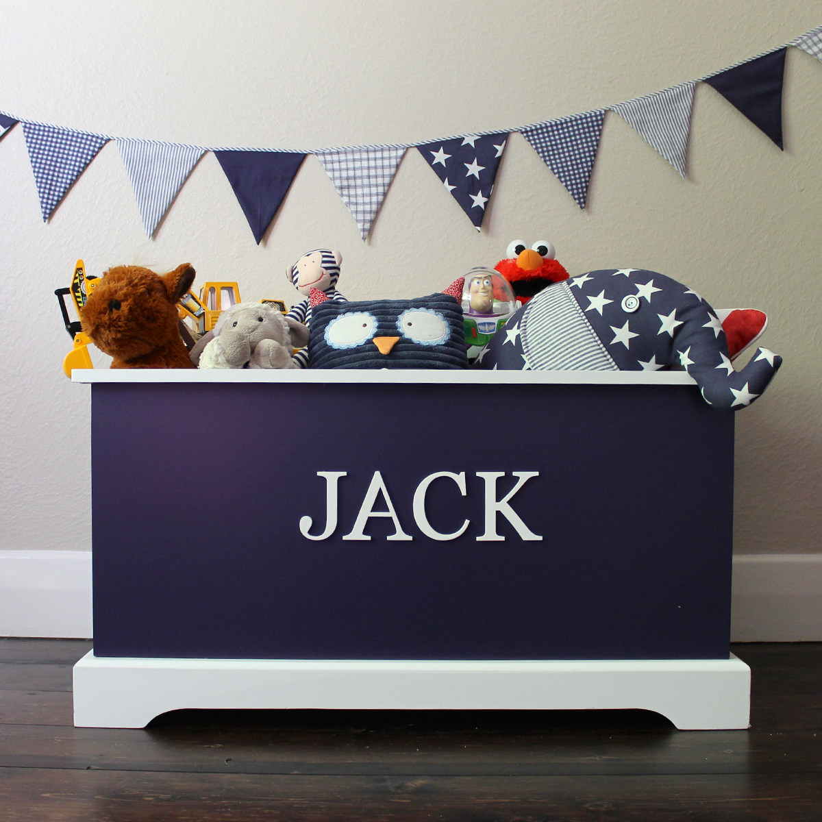 Personalised Toy Box Navy Personalised Toy Box Childrens Toy Boxes Toy Boxes