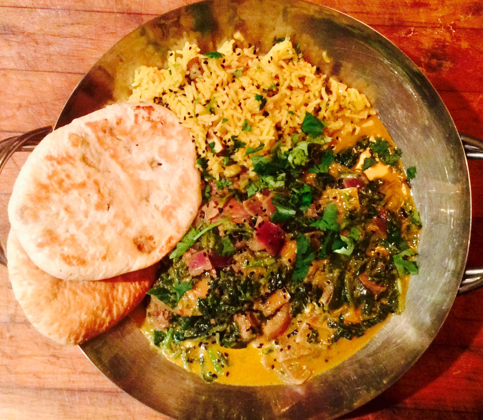 Korma Of Roast Lamb Red Onion Spinach Coconut Milk