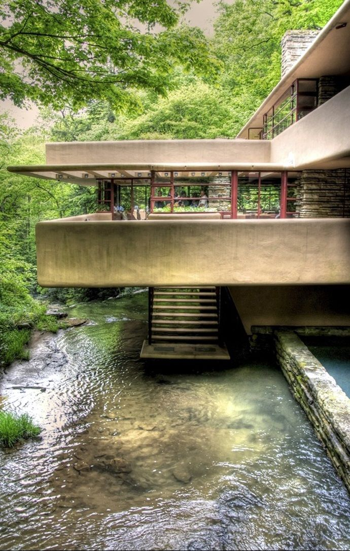 Frank Lloyd Wright Fallingwater 1935 Bear Run Pa Falling