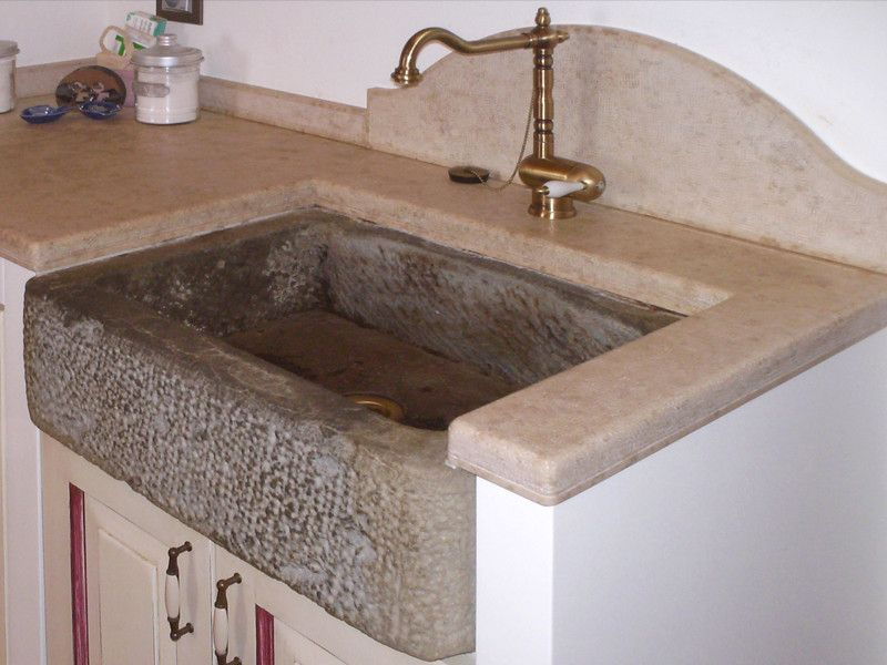 lavabi da cucina in pietra, travertino, marmo per arredare ...
