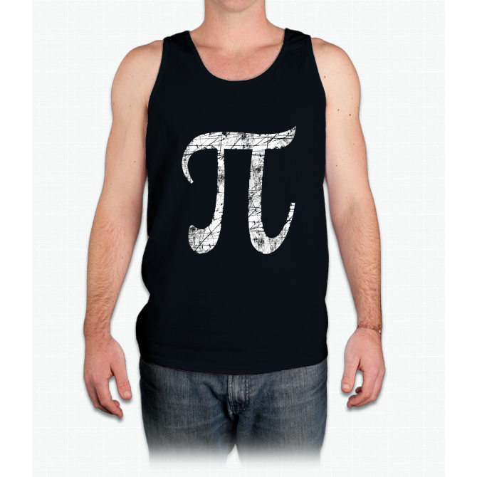 Pi Greek Letter Symbol Grunge Style Mens Tank Top Products