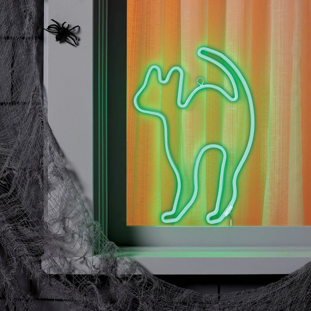 Green Flickering LED Neon Cat in 2020 Halloween lights