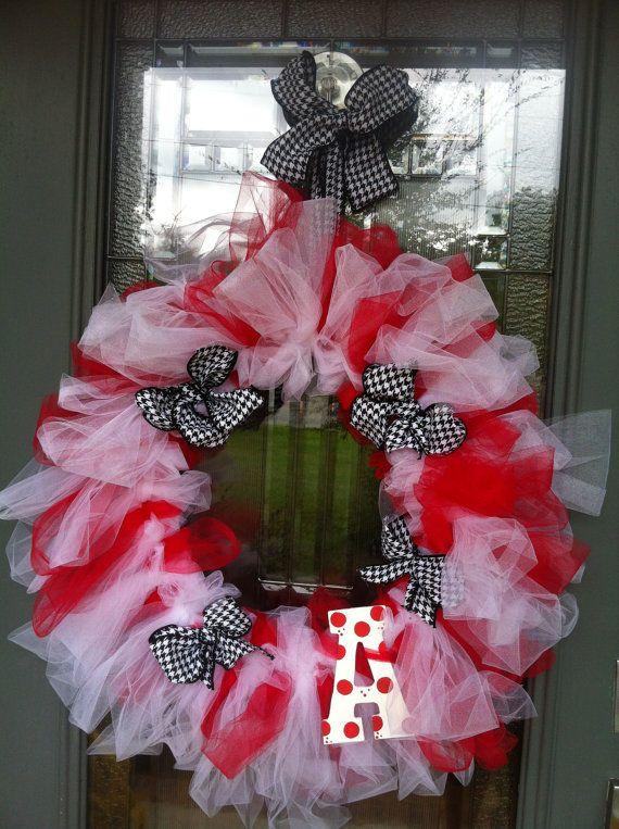 Alabama Football Tutu Wreath by WreathsnRainbows on Etsy, $37.00