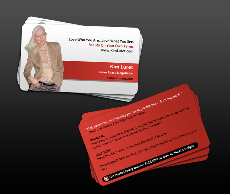 Business Card Design for Woman Motivational Speaker by indezyn ...