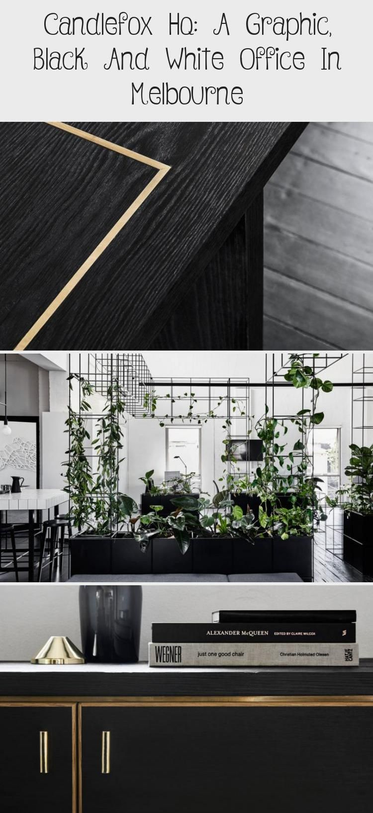 Candlefox Hq A Graphic Black And White Office In Melbourne Leslie S Blog Black Blog Candl In 2020 Black And White Office White Office Black And White Interior