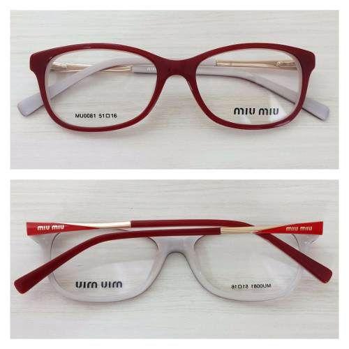 38099cd2ec7ae Armação Óculos De Grau Acetato Feminino Mu0081   Óculos de grau ...