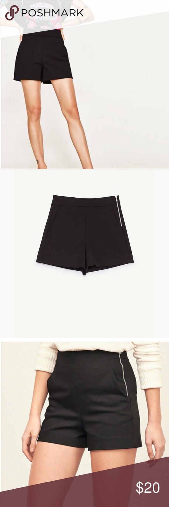 Zara High Waisted Shorts High Waisted Black Dress Shorts High Waisted Shorts Black Short Dress [ 1740 x 580 Pixel ]