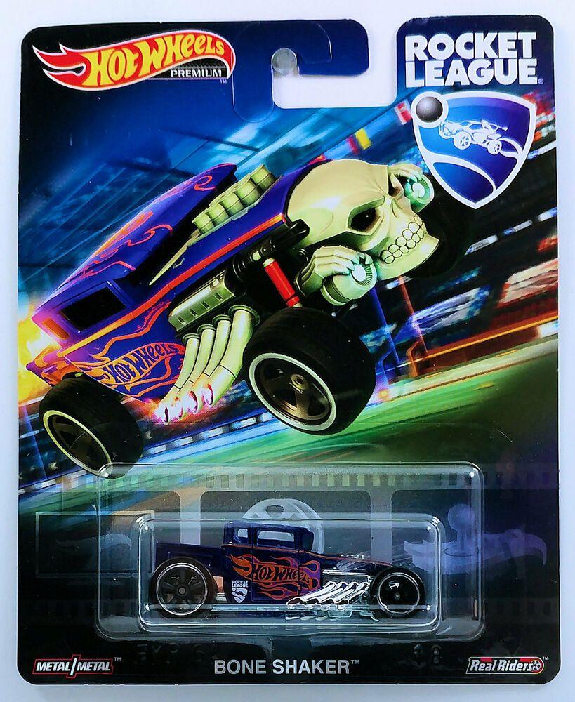 Hot Wheels Premium Rocket League Bone Shaker Real Riders New Hotwheels Boneshaker In 2020 Bone Shaker Hot Wheels Rocket League