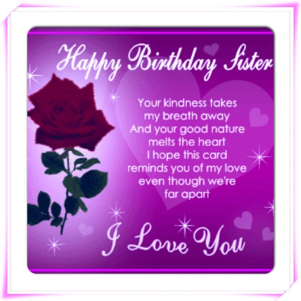 Birthday N Love Cards: #Happy Birthday Sister. I Love You!