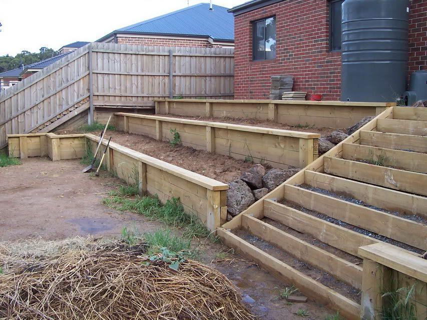 Pin By Lisa Nierman On Dream House Backyard Retaining Walls Landscaping Retaining Walls Sloped Backyard