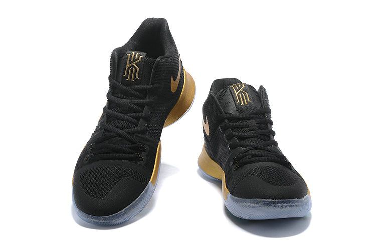 b00486ed0c5f Newest Nike kyrie 3 Ep Shoes Black Gold Mens Basketball Shoes 2018 On Line